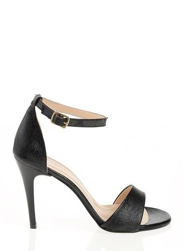 D by Divarese İnce Topuklu Abiye Ayakkabı Siyah